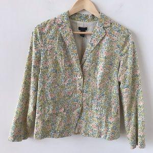 J Crew Collection floral cotton blazer